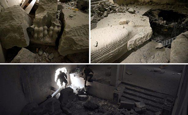 Lamentable: Yihadistas dejan en ruinas museo de Mosul