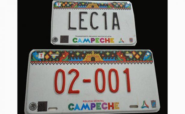 Presentan en Campeche nueva placa vehicular