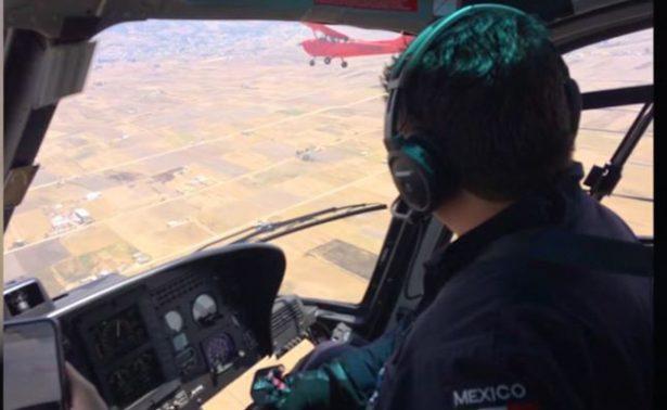 [Video] Piloto de la PF evita accidente y auxilia a avioneta a aterrizar