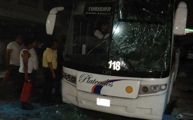Hallan pólvora en heridos por explosión de autobús
