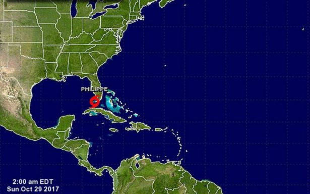 Tormenta Philippe se aleja de Florida; deja lluvias intensas en Bahamas