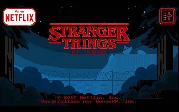 ¡Paranormal! Netflix lanza videojuego de 'Stranger Things'