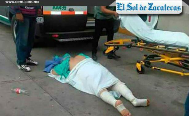 Se les cae paciente en pleno traslado en Zacatecas