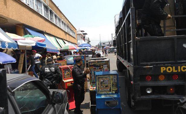 En operativo, decomisan tragamonedas en Tapachula