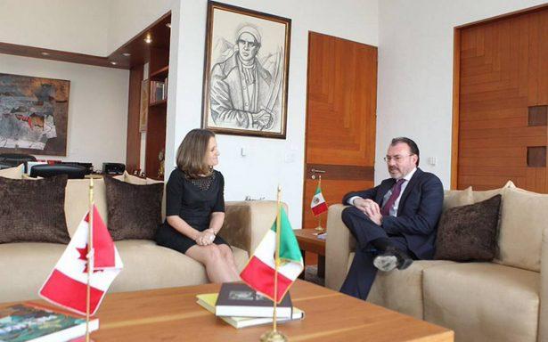 México y Canadá reafirman lazos tras reunión de Videgaray y Freeland