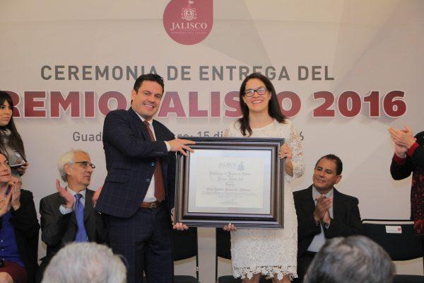 Hoy fue la entrega del Premio Jalisco 2016