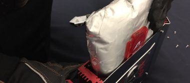 Can detectó 18  kilos de droga en paquetería