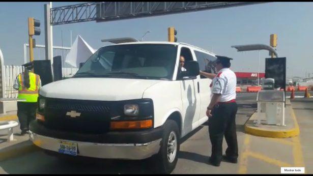 Ejidatarios dan paso libre en el estacionamiento del Aeropuerto