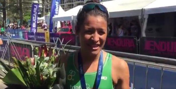 La triatleta Claudia Rivas se lleva bronce mundial