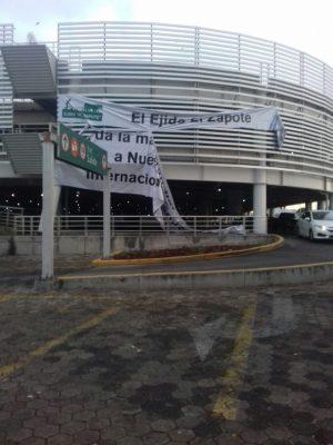 Amedrentan e intimidan a ejidatarios del Zapote instalados en el Aeropuerto