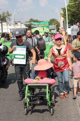 Marcha para legalizar la marihuana con fines  terapéuticos y recreativos; Montse encabezó la marcha