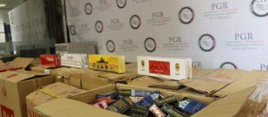 Asegura PGR en Jalisco más de 492 mil piezas de cigarros de diferentes marcas extranjeras