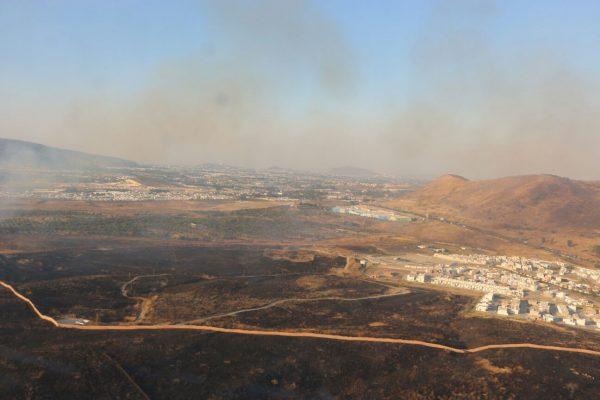 Combaten incendios forestales en Tequila