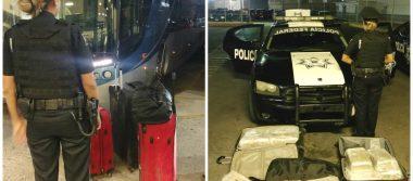 En tres acciones diferentes, Policía Federal aseguró más de 200 kilos de mariguana en Jalisco
