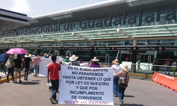 Anuncia ejido manifestaciones en el Aeropuerto