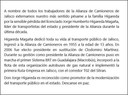 A los 75 años fallece el líder de la Alianza de Camioneros, Jorge Higareda