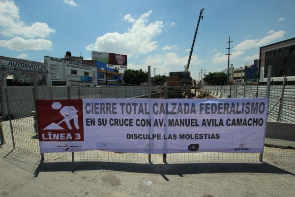 Cierran por seis meses crucero de Federalismo y Ávila Camacho