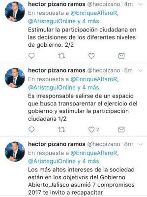Invita presidente del PRI a Enrique Alfaro a recapacitar