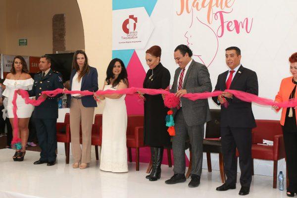 Inauguran Expo Tlaquepaque Fem, participan 60 mujeres dueñas de negocios