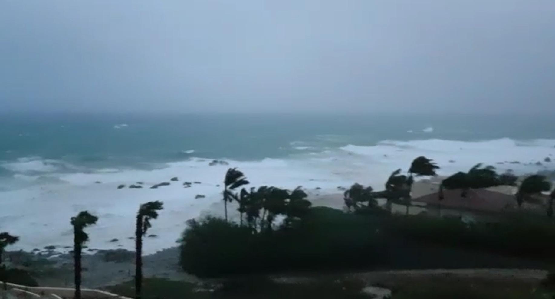 Para este viernes, el SMN prevé que la tormenta tropical Lidia se localice en tierra, al sur de Baja California Sur y continúe avanzando hacia el noroeste. Foto: Captura de pantalla.
