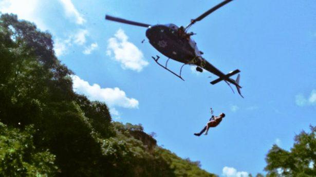 Rescata el helicoptero Halcón de la Policía de Zapopan a menor herido por caída