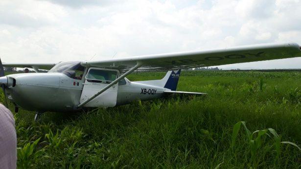 Aterriza forzosamente avioneta en Tlajomulco