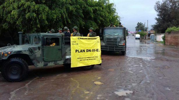 Realizan militares acciones preventivas ante pronósticos de lluvias