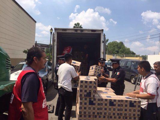 Recibe PF en Jalisco 33 toneladas de productos para damnificados de sismos