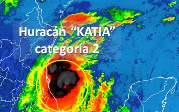Katia se mantiene en categoría 2; amenaza a costas de Veracruz