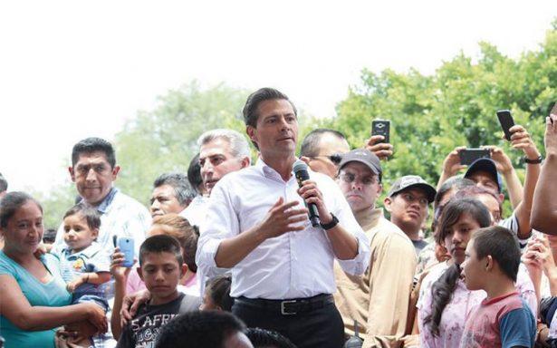 Seguiremos buscando a las personas entre los escombros: Peña Nieto