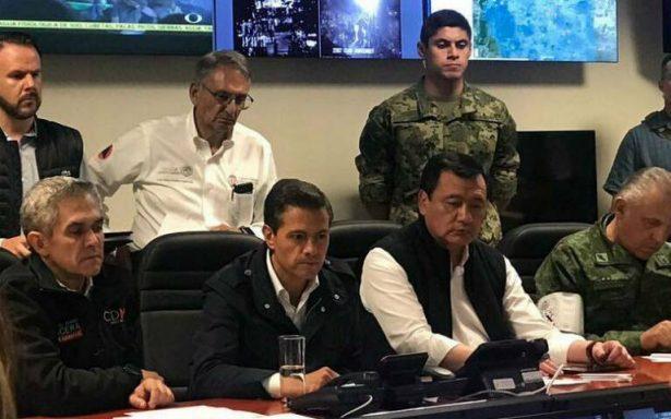 Peña Nieto decreta tres días de luto nacional
