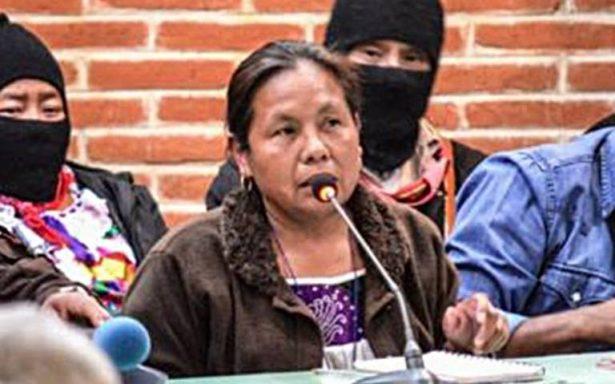 Marichuy, vocera del ELZN , se registra como aspirante independiente a la presidencia