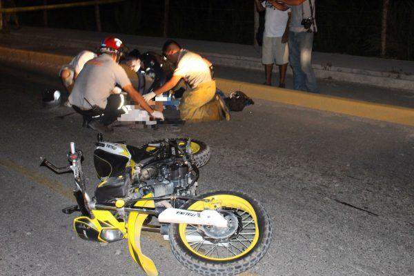 Choca motociclista en Puerto Vallarta