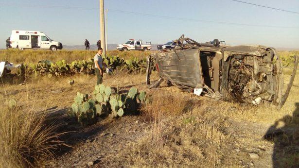 Accidente cobra cinco vidas, además hay tres heridos