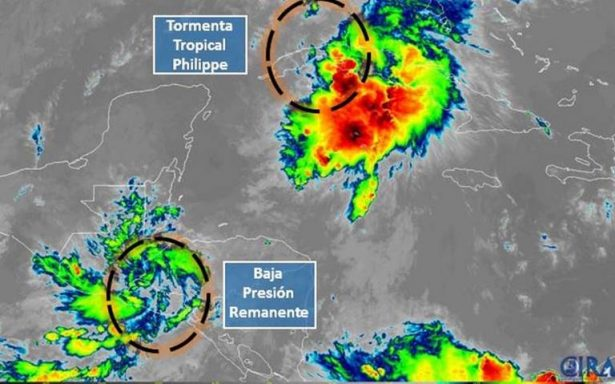 Tormenta tropical Philippe se forma frente a Cuba; se dirige a Florida