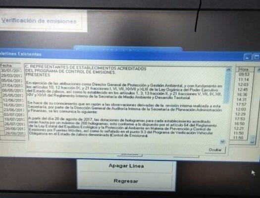 Talleres autorizados advierten desabasto de hologramas