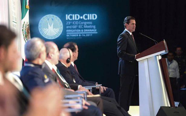 Es tiempo de agua, señala el presidente Enrique Peña Nieto