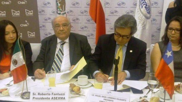 Firman convenio con Chile para optimizar crecimiento de exportaciones