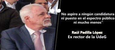 Raúl Padilla: No a la vida política