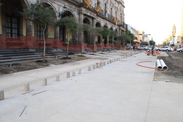 Avanzan en trabajos de la peatonalización del Paseo Fray Antonio Alcalde