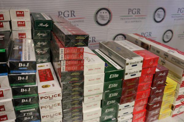 Decomisa PGR 200 mil cigarros ilícitos en Guadalajara