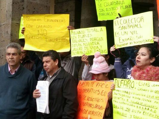 Se manifiestan ciudadanos en contra de planes parciales de Guadalajara