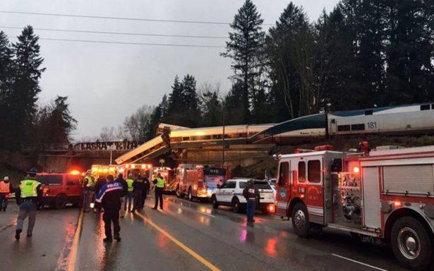 Reportan heridos y muertos al descarrilarse tren en Seattle