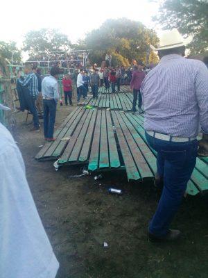 Colapsan gradas en Plaza de Toros en Magdalena, Jalisco