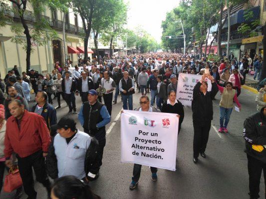 Marchan Sindicatos contra la Ley de Seguridad Interior