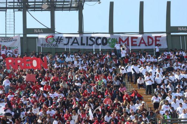 Acude delegación de priistas de Jalisco a elección de Meade