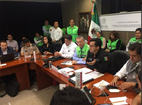 CNE mantiene sesión para coordinar acciones tras sismo