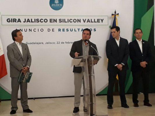 Inversión y acuerdo logra Gobierno de Jalisco con Silicon Valley