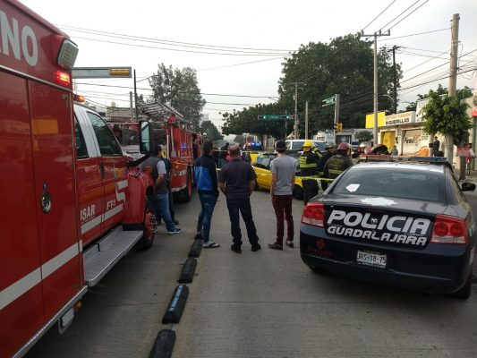 Muere taxista en accidente en Guadalajara