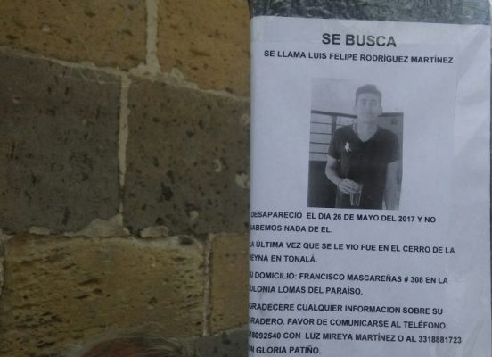 Llora familia desaparición de Luis Felipe